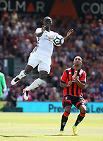 Football - 2016 / 2017 Premier League - AFC Bournemouth vs. Manchester United<br /> Manchester United's Eric Bailly climbs above Bournemouth's Callum Wilson to win the ball for United at Dean Court (The Vitality Stadium) Bournemouth<br /> <br /> Colorsport/Shaun Boggust