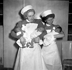File photo dated 05/07/48 of the first babies to be born under the then new National Health Service (NHS).