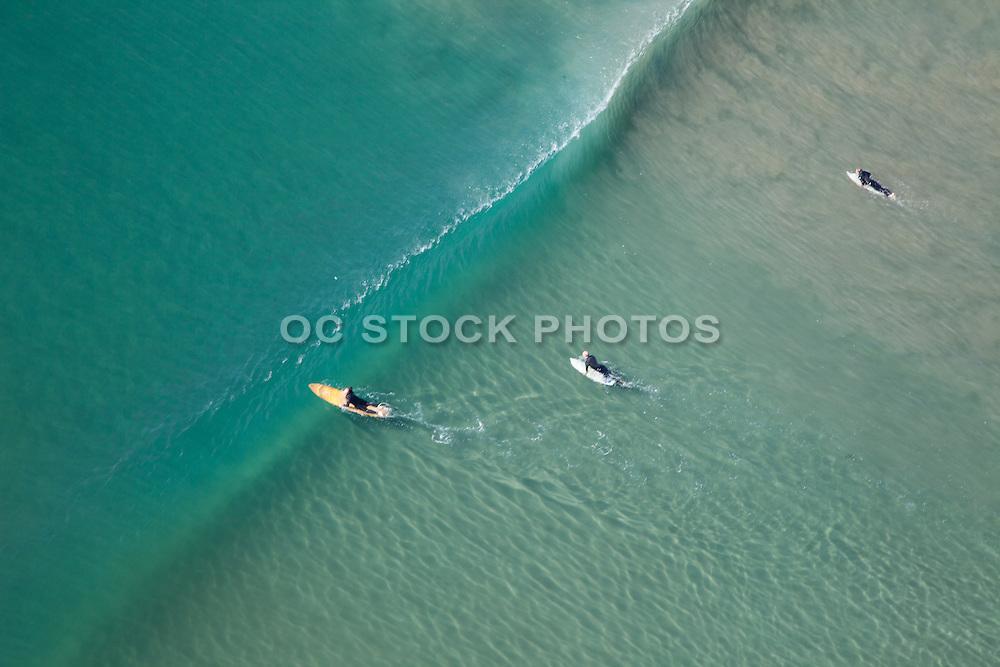 Aerial Photo of Surfers at Ventura Beach California