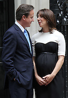 David Cameron; Samantha Cameron French President UK Visit, Downing Street, Whitehall, London, UK, 18 June 2010. For piQtured Sales contact: Ian@piqtured.com Tel: +44(0)791 626 2580 (Picture by Richard Goldschmidt/Piqtured)