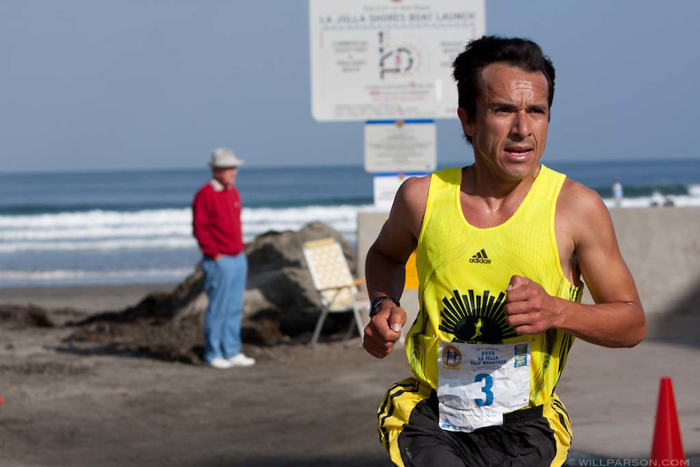 Nazario Romero, 35, won the La Jolla Half Marathon after ending a three-year absence from the race caused by an injury near his right achilles.  Romero, who broke the course record in 2003 with a time of 1:06:23, beat second place Matt Stohl by almost three minutes with a time of 1:10:24.