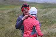 Josh Mackin (Dundalk) celebrates with his Mum after winning the Ulster Boys Championship at Donegal Golf Club, Murvagh, Donegal, Co Donegal on Friday 26th April 2019.<br /> Picture:  Thos Caffrey / www.golffile.ie