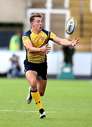 Josh Adams of Worcester Warriors tries to catch the ball - Mandatory by-line: Robbie Stephenson/JMP - 30/07/2016 - RUGBY - Kingston Park - Newcastle, England - Worcester Warriors v Sale Sharks - Singha Premiership 7s