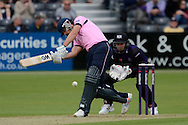 Adam Vogues in action during the NatWest T20 Blast South Group match between Gloucestershire County Cricket Club and Middlesex County Cricket Club at the Bristol County Ground, Bristol, United Kingdom on 15 May 2015. Photo by Alan Franklin.