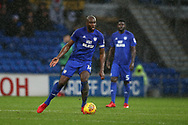 Sol Bamba of Cardiff city in action.EFL Skybet championship match, Cardiff city v Fulham at the Cardiff city stadium in Cardiff, South Wales on Boxing Day, Tuesday 26th December 2017.<br /> pic by Andrew Orchard, Andrew Orchard sports photography.