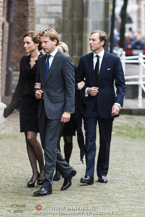 NLD/Delft/20131102 - Herdenkingsdienst voor de overleden prins Friso, prins Floris en partner Aimme Sohngen