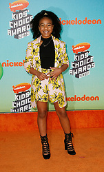 March 23, 2019 - Los Angeles, CA, USA - LOS ANGELES, CA - MARCH 23: Priah Ferguson attends Nickelodeon's 2019 Kids' Choice Awards at Galen Center on March 23, 2019 in Los Angeles, California. Photo: CraSH for imageSPACE (Credit Image: © Imagespace via ZUMA Wire)