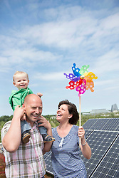 Young family renewable energy electricity