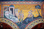 Byzantine mosaics in the Cathedral of Monreale - Palermo - Sicily Pictures, photos, images & fotos photography .<br /> <br /> If you prefer you can also buy from our ALAMY PHOTO LIBRARY  Collection visit : https://www.alamy.com/portfolio/paul-williams-funkystock/monrealeduomomosaics.html. Refine search by adding subject etc  into the LOWER SEARCH WITHIN GALLERY box. <br /> <br /> Visit our BYZANTINE MOSAIC PHOTO COLLECTION for more   photos  to download or buy as prints https://funkystock.photoshelter.com/gallery-collection/Roman-Byzantine-Art-Artefacts-Antiquities-Historic-Sites-Pictures-Images-of/C0000lW_87AclrOk