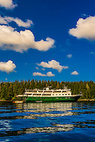 Wilderness Explorer (small cruise ship), Magoun Islands State Marine Park, Krestof Sound,  Inside Passage, Southeast Alaska USA.