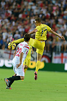 Seville, Spain, october 26, 2014:Villarreal's Chersyshev (R) and Sevilla's Coke (L) during the match between Sevilla FC and Villarreal day 9 spanish  BBVA League 2014-2015 day 5, played at Sanchez Pizjuan stadium in Seville, Spain.(PHOTO: CARLOS BOUZA / BOUZA PRESS / ALTER PHOTOS)