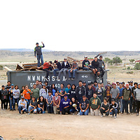 """Sixty-one students worked in the Summer Youth Program at Mariano Lake Chapter. The students picked trash along the Navajo 49 from Hidden Springs to Echo Canyon Road and the chapter compound.The students are asking to help keep the community clean, and help pick up trash along all the community roads and highway.""""Tenants at Navajo Housing Authority, please pick up the trash within the NHA compound. All community members pick up trash within your home site and along the roads that you reside on.Mariano Lake community is a beautiful area; please help keep it beautiful by picking trash and disposing it yourself. Don't litter, keep the community clean and respect Mother Earth.Ahee hee,"""" said Leandra K. James, community services coordinator."""