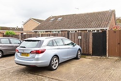 Annette and Raymond Timmins' car parked in their space adjacent to the battleground with the owner of a neighbouring property - over a 76cm strip of land. Maidenhead, September 12 2018.