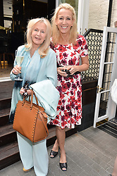 Left to right, LIZ BREWER and CAROLINE ST.GEORGE at a ladies lunch at Toto's, Walton Street, London on 12th June 2014.