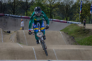 #380 (EZEQUIEL DE SOUZA FILHO Anderson) BRA at the 2016 UCI BMX Supercross World Cup in Papendal, The Netherlands.
