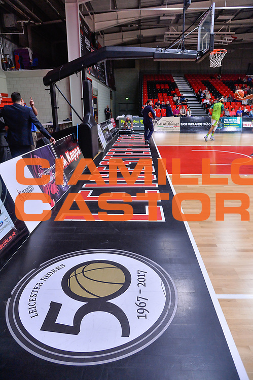 Dettaglio Parquet Morningside Arena<br /> Leicester Riders BC - Banco di Sardegna Dinamo Sassari<br /> Fiba Europe Cup Gruppo H 2018-2019<br /> Leicester, 17/10/2018<br /> Foto L.Canu / Ciamillo-Castoria