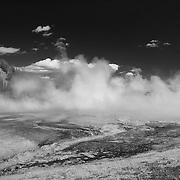 Grand Prismatic Steaming Geyser Pool - Cyanobacteria - Yellowstone National Park - Infrared Black & White