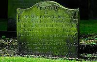 Scottish Gravestone in Aberdeen, 19th Century