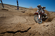 Extreme motorcross and freestyle motorcross riders show off their skills at Pro-X, held in Cape Town,South Africa. Picture by Greg Beadle