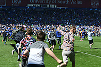 Football - 2017 / 2018 Sky Bet Championship - Cardiff City vs. Reading<br /> <br /> Cardiff fans invade the pitch as the final whistle goes & Cardiff gain promotion to the Premier League , at Cardiff City Stadium.<br /> <br /> COLORSPORT/WINSTON BYNORTH