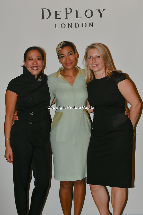 Bernice Pan - Founder & Creative Director - DEPLOY London partner with Tosin Trim and Claudia Simms showcases is latest catwalk show DEPLOY AW18 Collection with partner Claudia Simms and Tosin Trim and talk at The Oriental Club, UK. 23 September 2018.