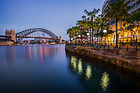 Sydney Cove featuring Harbour Bridge and Circular Quay Promenade