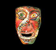 Modern mask incorporating elements of the struggle with the Spanish conquistadors in Mexico. Used for rituals and celebrations in Mexico to symbolise the battle between good and evil.