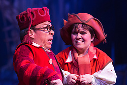 "© Licensed to London News Pictures. 06/12/2012. London, England. Warwick Davis as ""Prof"". Priscilla Presley makes her pantomime debut in ""Snow White and the Seven Dwarfs"" at the New Wimbledon Theatre, Wimbledon, from 7 December 2012 to 13 January 2013. Warwick Davis and Jarred Christmas star alongside her. Images from the Dress Rehearsal. Photo credit: Bettina Strenske/LNP"