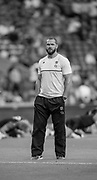 Twickenham, England.  QBE International. England vs France  Andy FARRELL watches the pre game sessionWorld cup warm up match Saturday, 15/08/2015  [Mandatory Credit. Peter SPURRIER/Intersport Images.