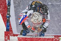 Muffat Jeandet Victor (FRA) during trophy ceremony at the Audi FIS Alpine Ski World Cup Men's  Slalom at 60th Vitranc Cup 2021 on March 14, 2021 in Podkoren, Kranjska Gora, Slovenia Photo by Grega Valancic / Sportida