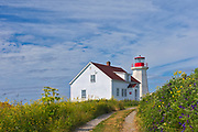 Lighthouse on Île aux Perroquets<br />Mingan Archipelago National Park Reserve<br />Quebec<br />Canada