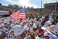 PASADENA, Ca - January 1, 2016: The Stanford Cardinal vs the Iowa Hawkeyes at the Rose Bowl in Pasadena, CA. Final score Stanford Cardinal 45, Iowa Hawkeyes 16