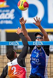 25-08-2018 NED: DELA Beach NK Volleyball, Scheveningen<br /> Tom van Steenis #2