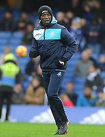Football - 2016 / 2017 Premier League - Chelsea vs. Swansea City<br /> <br /> Swansea coach Claude Makelele at Stamford Bridge.<br /> <br /> COLORSPORT/ANDREW COWIE