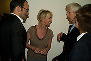 TOM FORD; TRUDY STYLER; RICHARD BUCKLEY, Mario Testino: Obsessed by You -  private view<br />Phillips de Pury & Company, Howick Place, London, SW1, 2 July 2008 *** Local Caption *** -DO NOT ARCHIVE-© Copyright Photograph by Dafydd Jones. 248 Clapham Rd. London SW9 0PZ. Tel 0207 820 0771. www.dafjones.com.