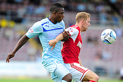 Bristol City's Scott Wagstaff controls the ball under pressure from Coventry City's Franck Moussa  - Photo mandatory by-line: Dougie Allward/JMP - Tel: Mobile: 07966 386802 11/08/2013 - SPORT - FOOTBALL - Sixfields Stadium - Sixfields Stadium -  Coventry V Bristol City - Sky Bet League One