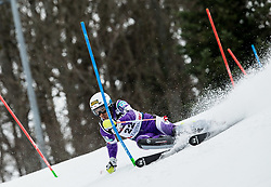 """Naoki Yuasa (JPN) competes during 1st Run of FIS Alpine Ski World Cup 2017/18 Men's Slalom race named """"Snow Queen Trophy 2018"""", on January 4, 2018 in Course Crveni Spust at Sljeme hill, Zagreb, Croatia. Photo by Vid Ponikvar / Sportida"""
