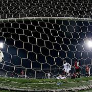 Fenerbahce's scores during their Turkish Super League soccer match Genclerbirligi between Fenerbahce at the 19 Mayis stadium in Ankara Turkey on Sunday, 15 March 2015. Photo by Aykut AKICI/TURKPIX
