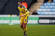Wimbledon defender Tyler Garrett (12), on loan from Doncaster Rovers, in action  during the EFL Sky Bet League 1 match between Coventry City and AFC Wimbledon at the Ricoh Arena, Coventry, England on 12 January 2019.