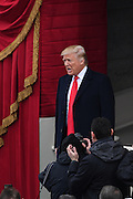 President-elect Donald Trump walks out from the the U.S. Capitol Building for the Inaugural Ceremony to become the 45th President January 20, 2017 in Washington, DC.