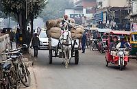 DELHI - Paard en Wagen in de Old City . ANP KOEN SUYK