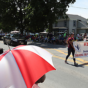 CANASTOTA, NY - JUNE 10:  The welcome banner is seen during the parade of champions at the International Boxing Hall of Fame for the Weekend of Champions induction event on June 10, 2018 in Canastota, New York. (Photo by Alex Menendez/Getty Images) *** Local Caption ***