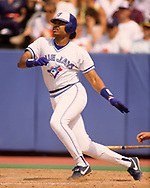 TORONTO - 1988:  Jesse Barfield of the Toronto Blue Jays bats during an MLB game at Exhibition Stadium in Toronto, Ontario, Canada during the 1988 season. (Photo by Ron Vesely)  Subject:   Jesse Barfield