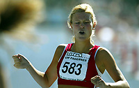 Friidrett<br /> UM 2004<br /> Blåbærmyra - Fagernes<br /> 15.08.2004<br /> Foto: Morten Olsen, Digitalsport<br /> <br /> Randi Vermelid - Tønsberg<br /> 800 meter