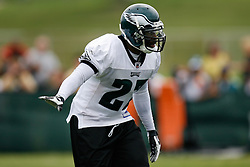 Bethlehem, PA - August 2nd 2008 - Safety Quentin Mikell directs teamates during the Philadelphia Eagles Training Camp at Lehigh University (Photo by Brian Garfinkel)