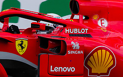 April 28, 2018 - Baku, Azerbaijan - Sebastian Vettel of Germany and Scuderia Ferrari driver goes during the qualifying session at Azerbaijan Formula 1 Grand Prix on Apr 28, 2018 in Baku, Azerbaijan. (Credit Image: © Robert Szaniszlo/NurPhoto via ZUMA Press)