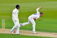 Sam Cook of Essex boewling during the first day of the Specsavers County Champ Div 1 match between Hampshire County Cricket Club and Essex County Cricket Club at the Ageas Bowl, Southampton, United Kingdom on 5 April 2019.