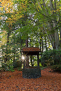 The Wishing Well at the Air Force Garden of Remembrance in Stanley Park, Vancouver, British Columbia, Canada