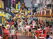 06 JUNE 2015 - KUALA LUMPUR, MALAYSIA: Sidewalk dining on Jalan Tun Sambanthan in the Little India section of Kuala Lumpur.      PHOTO BY JACK KURTZ