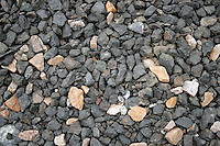 4 August 2006: Detail rock texture along Highway 1 through central California along the coast of Big Sur. Natural limestone rocks found in CA. Graphic, art, texture, grey, book.